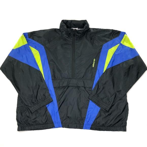 ❌SOLD❌ Vintage Adidas Trefoil Windbreaker Jacket Large L